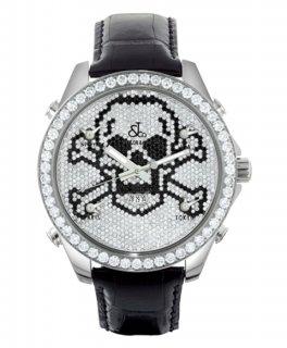 ジェイコブ ファイブタイムゾーン JC-MSKULLD ダイヤモンドベゼル 腕時計 JACOB&CO