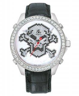 ジェイコブ ファイブタイムゾーン JC-MSKULL7D ダイヤモンドベゼル 腕時計 JACOB&CO