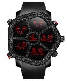 海外取寄せ ジェイコブ ゴースト JC-GST-BKD2.9 デジタル 5time zone ブラックダイヤモンド(2.9ct) 腕時計 JACOB&CO