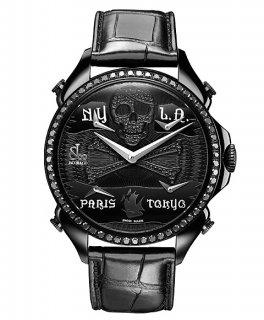 ジェイコブ JACOB&CO JC-BPLPRBKD-BKD 腕時計 メンズ パレーシャルファイブタイムゾーン PALATIAL レザーベルト 5timezone