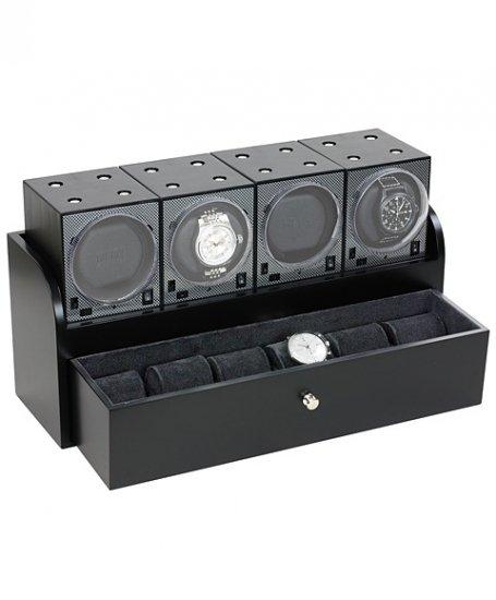 予約販売(納期2-3ヶ月)ボクシーデザイン  ウォッチワインダー4個&ウッドハウジングセット BRK-BFW4  ※時計なし BOXY Design 自…