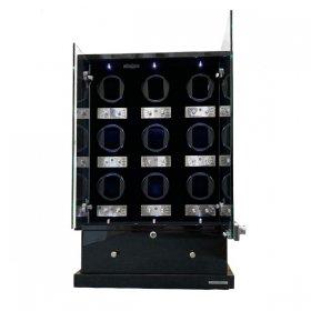 予約受付中(納期:お問合せください) ユーロパッション ウォッチワインディング ボックス FWD-17100EB ※時計は含まれません