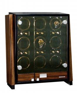 予約受付中(納期:お問合せ下さい) ユーロパッション ウォッチワインディング ボックス アダプター付 FWD-9101EB  ※時計は含まれておりません