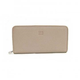 LOEWE ロエベ 長財布 AMAZONA ZIP AROUND WALLET 113N95F13 3410 POLISHED GOATSKIN 1190 ASH