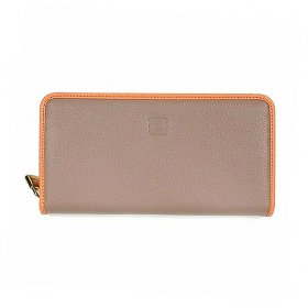 LOEWE ロエベ  AMAZONA ZIP AROUND WALLET 113N95CF13 3410 POLISHED GOATSKIN 7509 POWDER/PEACH 長財布