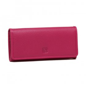 LOEWE ロエベ  AMAZONA CONTINENTAL WALLET 11395F11 3410 POLISHED GOATSKIN 7440 MAGENTA マゼンタ 二つ折り長財布
