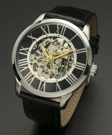 サルバトーレマーラ SM16101-SSBK 腕時計 メンズ スケルトン 手巻き Salvatore Marra