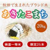 【令和2年産】秋田県 あきたこまち<まとめ売り20kg玄米>[送料別]