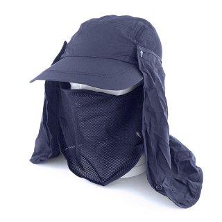 UVカット日よけ帽子 折りたたみ機能付き