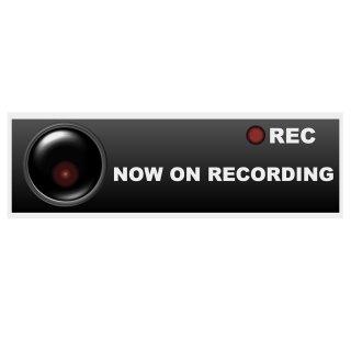 セキュリティー対策ステッカー「NOW ON RECORDING」
