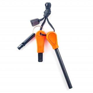 マグネシウム ファイヤースターター+ホイッスル(オレンジ)