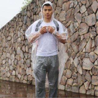 使い捨て用レインコート(クリア50個セット)