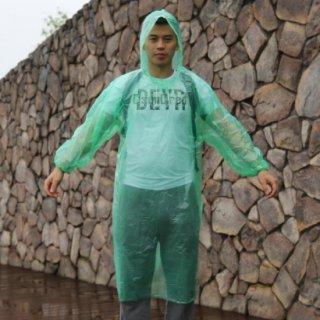 使い捨て用レインコート(グリーン50個セット)