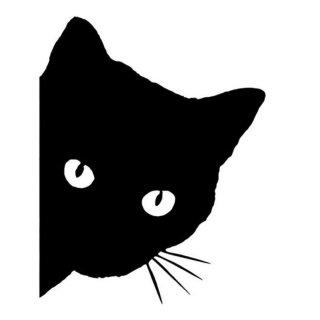 ステッカー「見つめる猫」