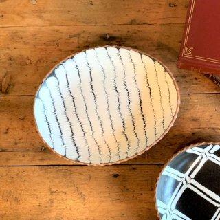 つくも窯 十場 天伸-楕円皿