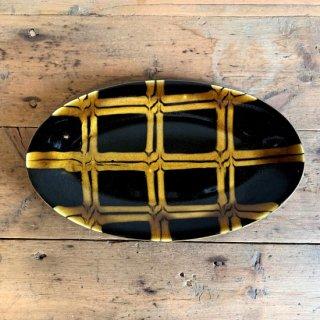 つくも窯 十場 天伸-楕円リム皿