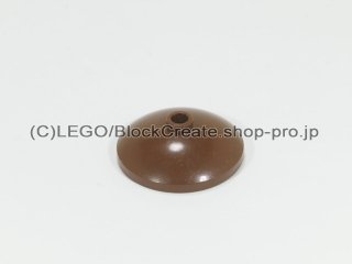 #43898 ラウンド ディッシュ 3x3 【旧茶】 /Dish 3x3 Inverted :[Brown]
