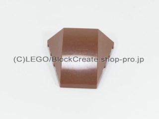 #47753 ウェッジ 4x4 3面カーブ【新茶】 /Wedge 4x4 Triple Curved without Studs :[Reddish Brown]