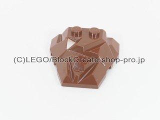 #64867 ウェッジ 4x4 ポリゴン【新茶】 /Roof Rock Tile 4x4 with angle :[Reddish Brown]