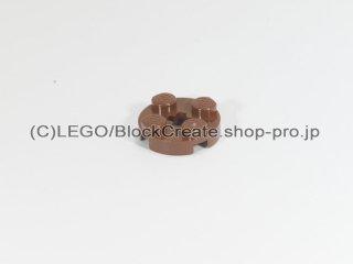 #4032 プレート 2x2 ラウンド【新茶】 /Plate 2x2 Round with Axle Hole :[Reddish Brown]