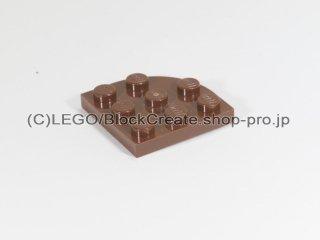 #30357 プレート ラウンドコーナー 3x3【新茶】 /Plate 3x3 Corner Round :[Reddish Brown]