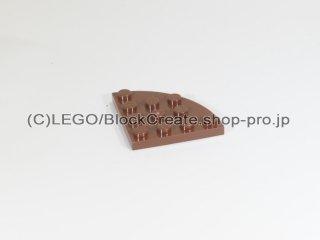 #30565 プレート ラウンドコーナー 4x4【新茶】 /Plate 4x4 Corner Round :[Reddish Brown]