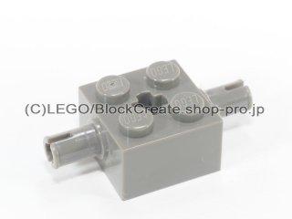 #30000 ホイール ホルダー ブロック 2x2【旧濃灰】 /Brick 2x2 with Pins and Axlehole :[Dark Gray]