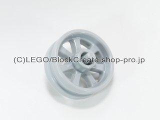 #50862 バイクホイール 15x6【新灰】 /Wheel Rim 14.6x6 with Spokes and Stub Axles :[Light Bluish Gray]