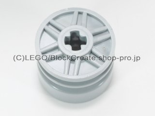 #55982 ホイール 18x14 十字穴【新灰】 /Wheel Rim 18x14 with Axle Hole :[Light Bluish Gray]