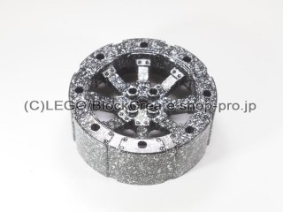 #55817 スポーク ホイール 7x7x2&2/3【黒銀】 /Wheel 56x22 with Spokes :[Black Silver]