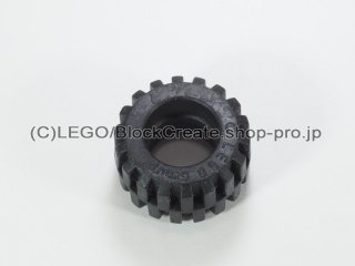 #6015 タイヤ オフセット トレッド スモール ワイド【黒】 /Tire 21mm D.x12mm Offset Tread Small Wide :[Black]