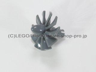 #46667 ジェットエンジン ラージ【新濃灰】 /Rotor Blades 24 with Pin :[Dark Bluish Gray]