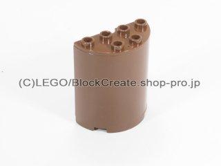 #6218 シリンダー ハーフ 2x4x4【旧茶】 /Cylinder 2x4x4 :[Brown]