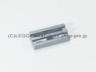 #2412 タイル 1x2 グリル【ツヤ消銀】 /Tile 1x2 Grille :[Flat Silver]