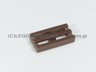 #2412 タイル 1x2 グリル【新茶】 /Tile 1x2 Grille :[Reddish Brown]