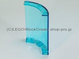 #30562 パネル 4x4x6 1/4シリンダー【透明水色】 /Panel 4x4x6 Corner Round :[Tr,Lt Blue]
