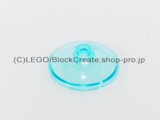 #43898 ラウンド ディッシュ 3x3 【透明水色】 /Dish 3x3 Inverted :[Tr,Lt Blue]