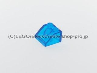 #3039 スロープ ブロック 45°2x2【透明青】 /Slope 45°2x2 :[Tr,Blue]