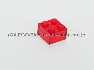 #3003 ブロック 2x2【透明赤】 /Brick 2x2 :[Tr,Red]