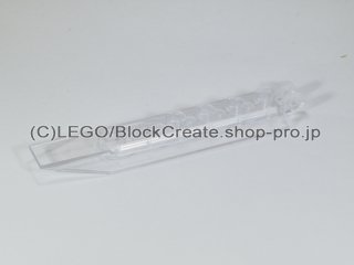 #30407 ヒンジ プレート 1x8 ロックキャッチ【透明】 /Hinge Plate 1x8 with Angled Side Extensions :[Tr,Clear]