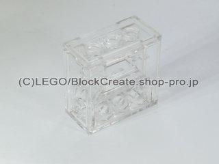 #6588 テクニック ギア ボックス 2x4x3 1/3【透明】 /Gearbox for Worm Gear :[Tr,Clear]