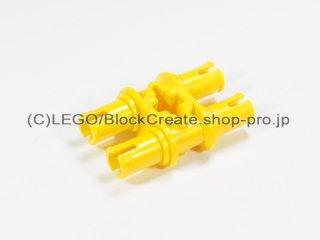 #32138 テクニック ピン 3L ダブル【黄色】 /Double Pin with Perpendicular Axlehole :[Yellow]