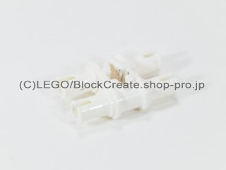 #32138 テクニック ピン 3L ダブル【白】 /Double Pin with Perpendicular Axlehole :[White]