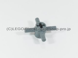 #48723 テクニック ピン 4バー【新濃灰】 /Bar 1L Quadruple with Axlehole Hub :[Dark Bluish Gray]