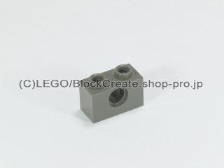 #3700 テクニック  ブロック 1x2  穴1【旧濃灰】 /Technic Brick 1x2 with Holes :[Dark Gray]