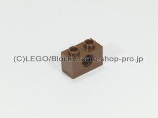 #3700 テクニック  ブロック 1x2  穴1【旧茶】 /Technic Brick 1x2 with Holes :[Brown]