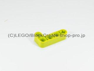 #32140 テクニック リフトアーム 2x4 L字【黄緑】 /Beam 2x4 Bent 90 Degrees, 2 and 4 holes :[Lime]
