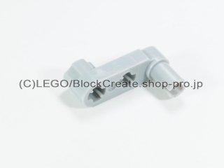 #33299 テクニック リフトアーム 1x3 クランク薄型【新灰】 /Technic Beam 3x0.5 Beam with Boss and Pin :[Light Bluish Gray]
