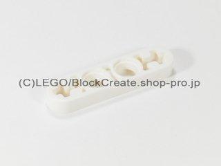 #32449 テクニック リフトアーム 1x4 薄型【白】 /Technic Beam 4x0.5 with Axle Hole each end :[White]