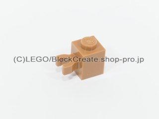 #30241 ブロック 1x1 クリップ【黄褐色】 /Brick 1x1 with Vertical Clip ('U' Clip, Solid Stud) :[Md Dk Flesh]